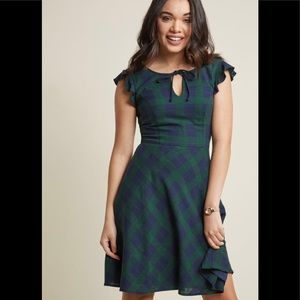 ModCloth tartan plaid dress